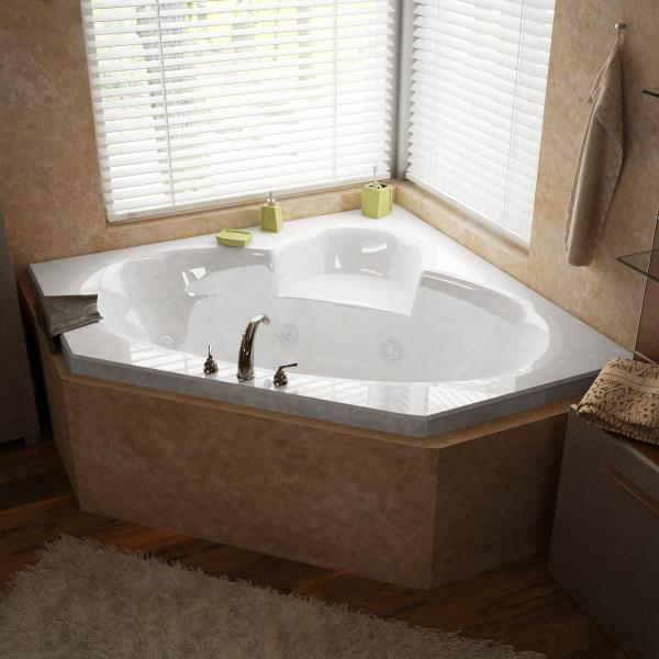 Atlantis Whirlpools Sublime 60 x 60 Corner Air & Whirlpool Jetted Bathtub Left Sided - 6060SDL