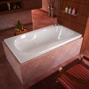 Atlantis Whirlpools Zepher 32 x 60 Rectangular Whirlpool Jetted Bathtub Right Sided - 3260ZWR