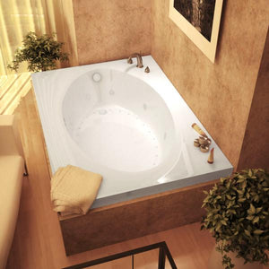 Atlantis Whirlpools Vogue 43 x 84 Rectangular Air & Whirlpool Jetted Bathtub Right Sided - 4384VDR