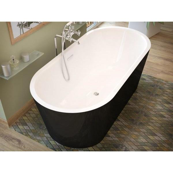 Atlantis Whirlpools Valley 32 x 63 Freestanding One Piece Soaker Tub with Center Drain - 3263VY