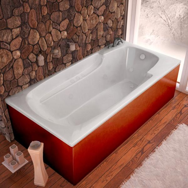 Atlantis Whirlpools Eros 36 x 60 Rectangular Whirlpool Jetted Bathtub Right Sided - 3660EWR