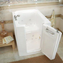 Load image into Gallery viewer, MediTub Walk-In 32 x 38 Right Door White Whirlpool & Air Jetted Walk-In Bathtub - 3238RWD