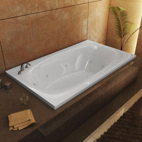 Atlantis Whirlpools Polaris 42 x 72 Rectangular Air & Whirlpool Jetted Bathtub Left Sided - 4272PDL