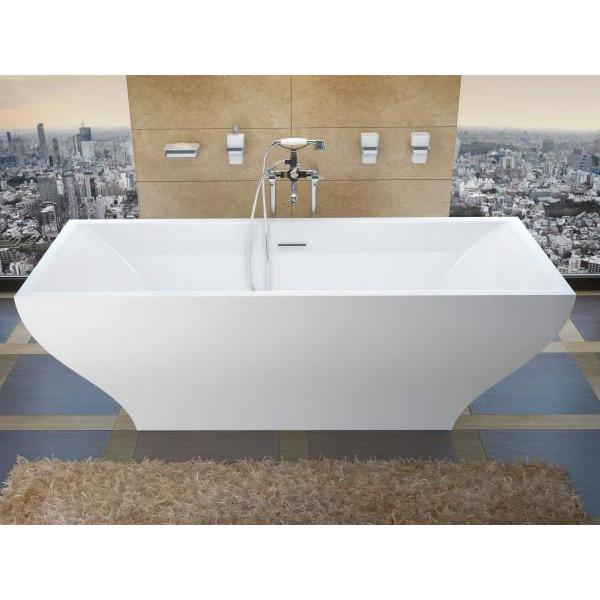 Atlantis Whirlpools Gulf 32 x 71 Freestanding One Piece Soaker Tub with Center Drain - 3271G