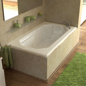 Atlantis Whirlpools Mirage 36 x 60 Rectangular Air & Whirlpool Jetted Bathtub Left Sided - 3660MDL