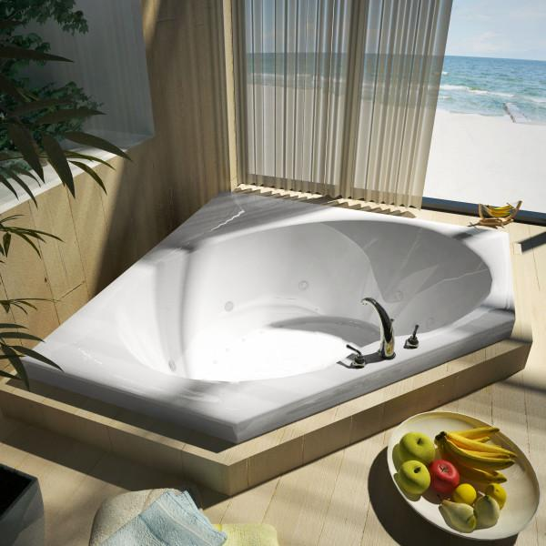 Atlantis Whirlpools Eclipse 60 x 60 Corner Air & Whirlpool Jetted Bathtub Right Sided