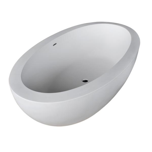 Atlantis Whirlpools Cabarita 42 x 75 Artificial Stone Freestanding Bathtub