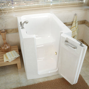 MediTub Walk-In 32 x 38 Right Door White Soaking Walk-In Bathtub - 3238RWS