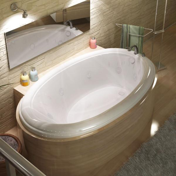 Atlantis Whirlpools Petite 44 x 78 Oval Whirlpool Jetted Bathtub Right Sided - 4478PCWR