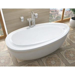 Atlantis Whirlpools Breeze 38 x 71 Oval Freestanding Soaker Bathtub