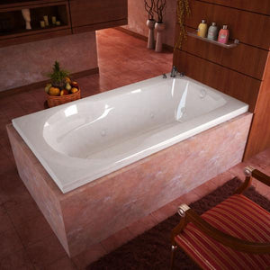 Atlantis Whirlpools Zepher 32 x 60 Rectangular Air & Whirlpool Jetted Bathtub Left Sided - 3260ZDL