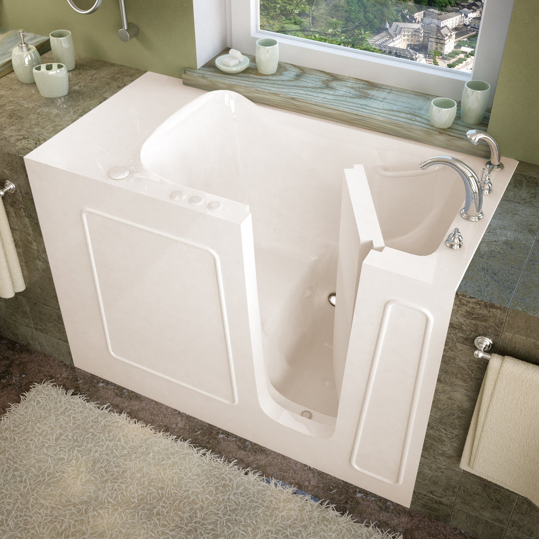 MediTub Walk-In 26 x 53 Right Drain Biscuit Soaking Walk-In Bathtub - 2653RBS