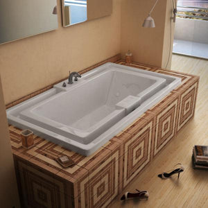 Atlantis Whirlpools Infinity 46 x 78 Endless Flow Whirlpool Jetted Bathtub Left Sided - 4678IWL