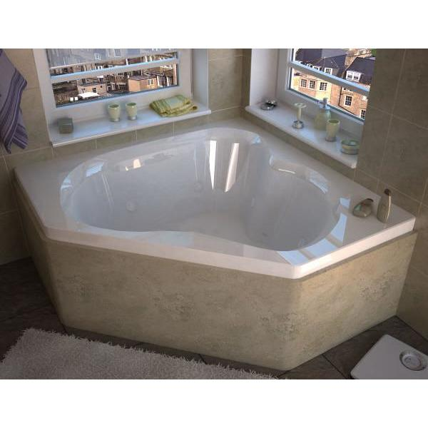 Atlantis Whirlpools Cascade 60 x 60 Corner Whirlpool Jetted Bathtub Right Sided