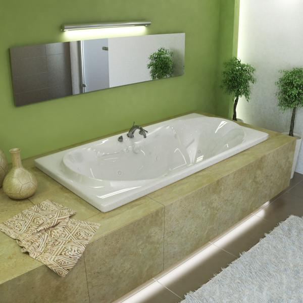 Atlantis Whirlpools Whisper 36 x 72 Rectangular Air & Whirlpool Jetted Bathtub - 3672WDL