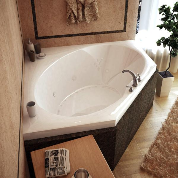 Atlantis Whirlpools Venus 60 x 60 Corner Air & Whirlpool Jetted Bathtub Right Sided - 6060VDR