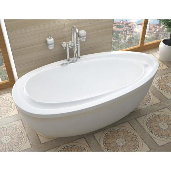 Atlantis Whirlpools Breeze 38 x 71 Oval Freestanding Air Jetted Bathtub