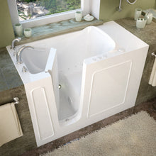 Load image into Gallery viewer, MediTub Walk-In 26 x 53 Left Drain White Air Jetted Walk-In Bathtub - 2653LWA