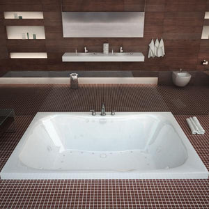 Atlantis Whirlpools Neptune 40 x 60 Rectangular Air & Whirlpool Jetted Bathtub Left Sided - 4060NDL