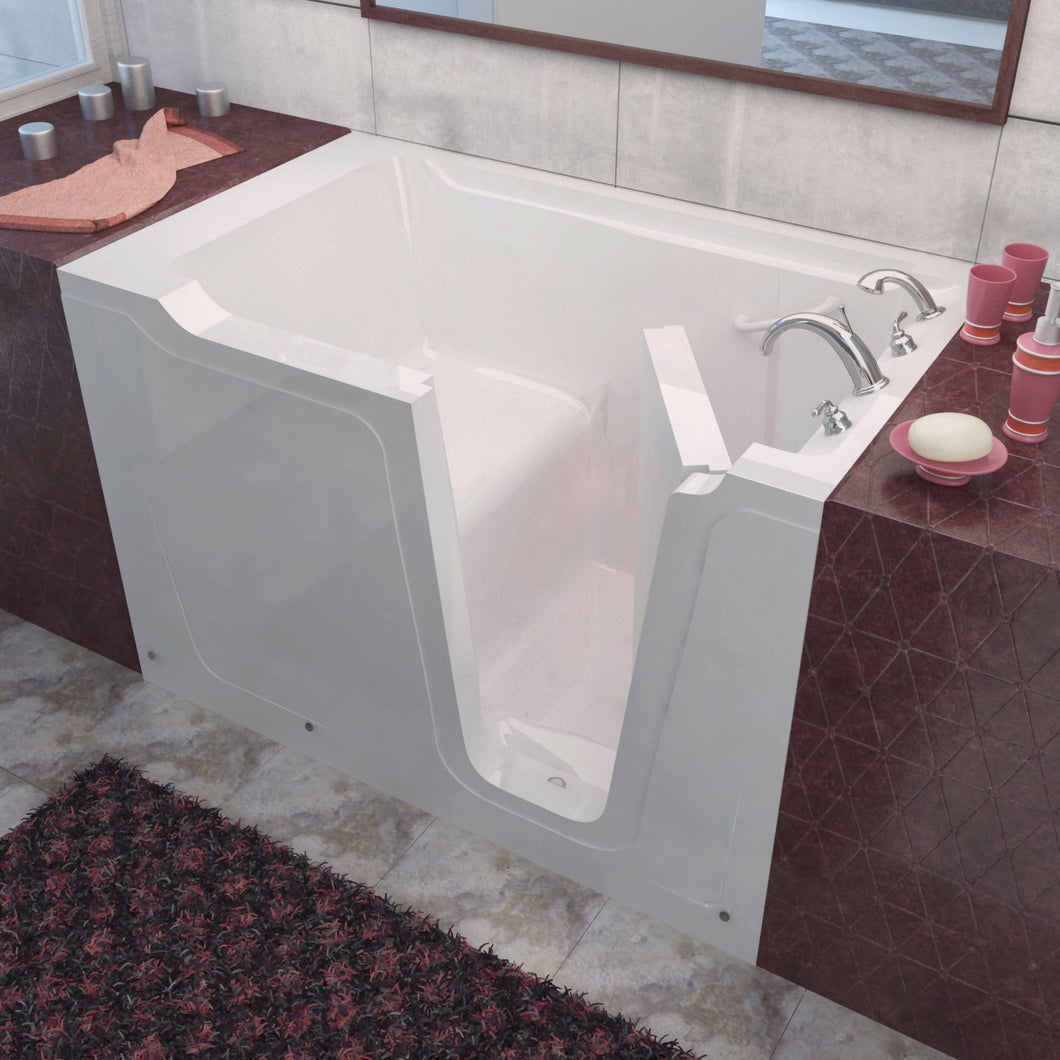 MediTub Walk-In 36 x 60 Right Drain White Soaking Walk-In Bathtub - 3660RWS