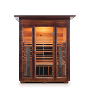 Enlighten Sauna - Diamond 3 Indoor Infrared/Traditional Hybrid Sauna