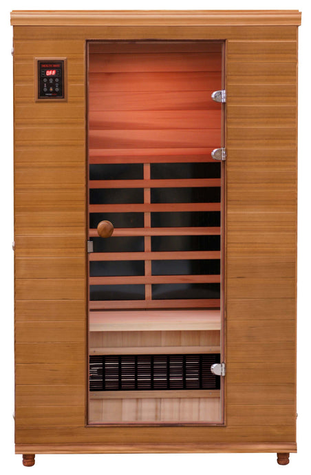 Health Mate - Renew II Infrared Sauna front facing view with blank background