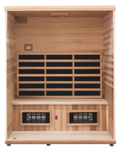 Load image into Gallery viewer, Health Mate - Renew III Infrared Sauna front facing view with front panel removed showing the inside structure