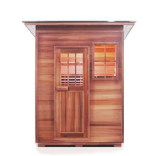 Load image into Gallery viewer, Enlighten Sauna Sierra 3 Person Slope Roof facing front in a white background