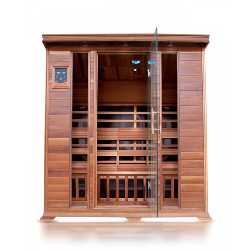 4 Person Cedar Sauna w/Carbon Heaters - HL400K Sequioa (In Stock 03/12)