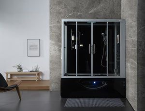 Maya Bath Catania Steam Shower - Black
