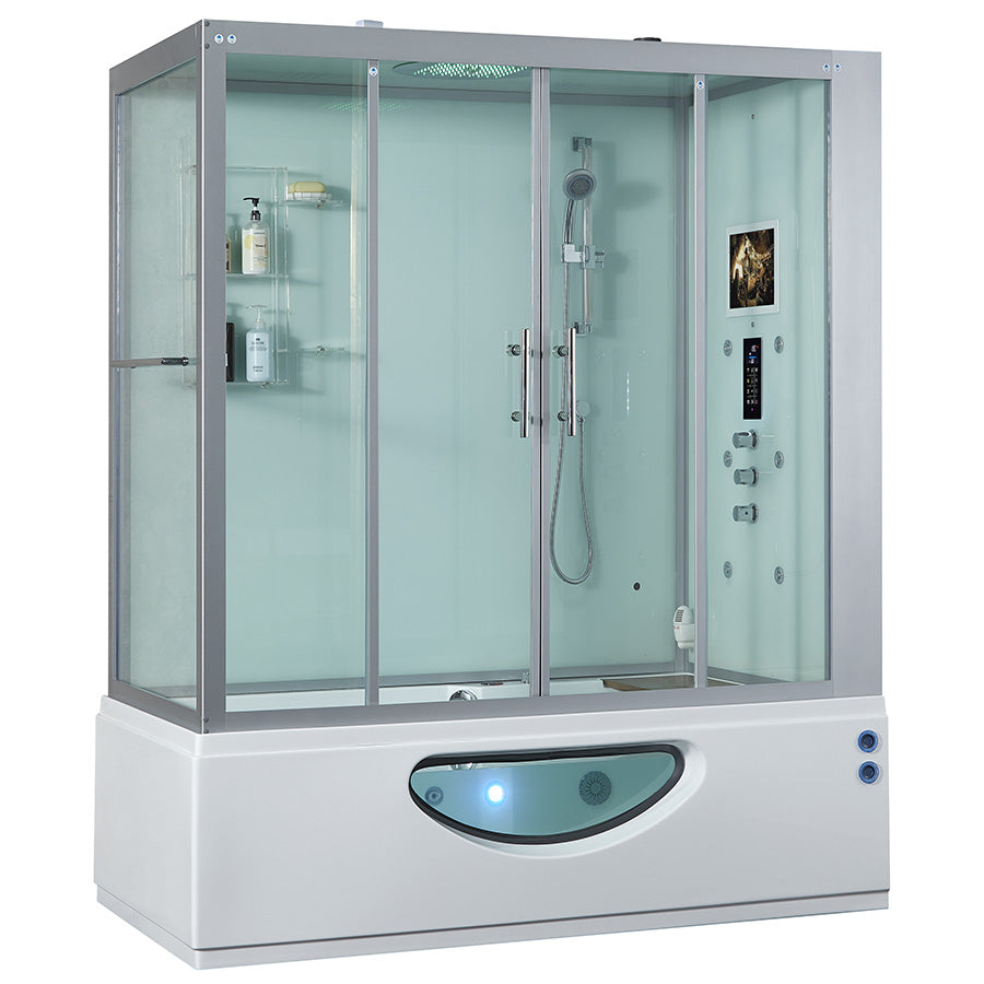 Maya Bath Catania Steam Shower - White (Right Sided)