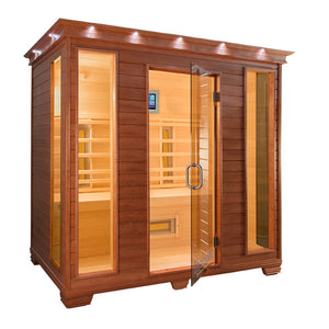 TheraSauna Far Infrared 4 Person Sauna Facing right with white background