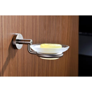 Caster Series Soap Dish in Brushed Nickel