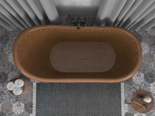 Load image into Gallery viewer, Sivas 66 in. Handmade Copper Slipper Clawfoot Non-Whirlpool Bathtub in Hammered Antique Copper