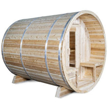 Load image into Gallery viewer, Dundalk LeisureCraft Tranquility White Knotty Cedar Barrel Sauna CTC2345H-1 (12-15 Week Lead Time)