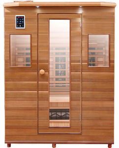 Health Mate - Enrich III Infrared Sauna front facing view with plain white background