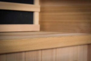 Health Mate - Renew I Infrared Sauna inside close up view of bench
