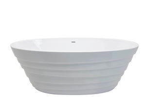 Nimbus 5.6 ft. Acrylic Center Drain Freestanding Bathtub in Glossy White
