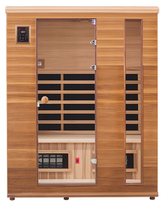 Health Mate - Renew III Infrared Sauna front facing view with blank background