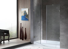 Load image into Gallery viewer, Consort Series 60 in. by 72 in. Frameless Hinged Alcove Shower Door in Polished Chrome with Handle