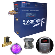 Load image into Gallery viewer, SteamSpa Indulgence QuickStart Acu-Steam Bath Generator Package with Built-in Auto Drain in Brushed Nickel