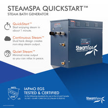 Load image into Gallery viewer, SteamSpa Indulgence QuickStart Acu-Steam Bath Generator Package in Brushed Nickel with Touch Controller