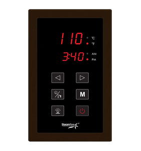 SteamSpa Indulgence QuickStart Acu-Steam Bath Generator Package in Oil Rubbed Bronze with Built-in Auto Drain and Touch Controller