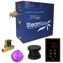 Load image into Gallery viewer, SteamSpa Indulgence QuickStart Acu-Steam Bath Generator Package in Oil Rubbed Bronze with Built-in Auto Drain and Touch Controller