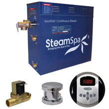 Load image into Gallery viewer, SteamSpa Oasis QuickStart Acu-Steam Bath Generator Package with Auto Drain and Digital Controller in Polished Chrome