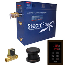 Load image into Gallery viewer, SteamSpa Oasis QuickStart Acu-Steam Bath Generator Package with Built-In Auto Drain and Touch Controller in Oil Rubbed Bronze