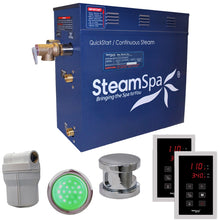 Load image into Gallery viewer, SteamSpa Royal QuickStart Acu-Steam Bath Generator Package in Polished Chrome with Touch Controller