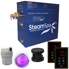 Load image into Gallery viewer, SteamSpa Royal QuickStart Acu-Steam Bath Generator Package in Oil Rubbed Bronze with Touch Controller