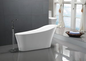 Maple Series 5.58 ft. Freestanding Bathtub in White
