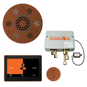 "The Total Wellness Package with 10"" ThermaTouch Trim Upgraded, by ThermaSol Antique Copper"